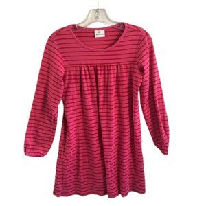 Hanna Andersson 150 Pullover Pink Stripe Dress 12